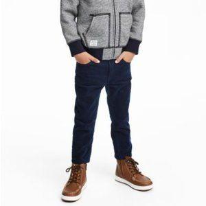 Blue Skinny Stretch Corduroy Pants